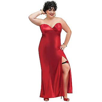 Betty Boop Jazz Flapper 50s Women Costume Plus