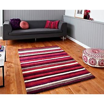 Soft Hand Carved Luxurious Purple Striped Rug 2022 - Phoenix