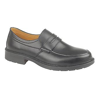 Amblers Steel FS46 Mens Safety Shoes Synethetic Textile Leather Slip On Footwear