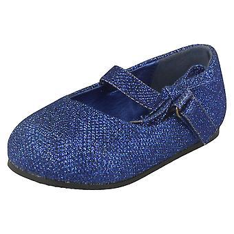 Mädchen-Spot auf flache Schuh mit Glitter Bogen Dekoration