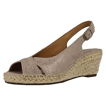 Ladies Clarks Sling Back Wedge Sandals Petrina Leigh