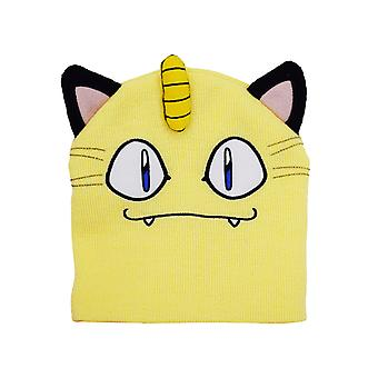Official Pokemon Meowth Face & Ears Beanie / Knitted Hat