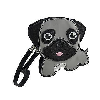 Sleepyville creature grigio Pug cucciolo cinturino piccolo portamonete