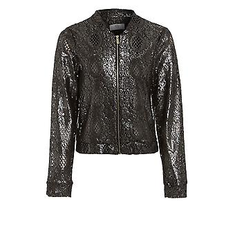 Metallic Crochet Jacket