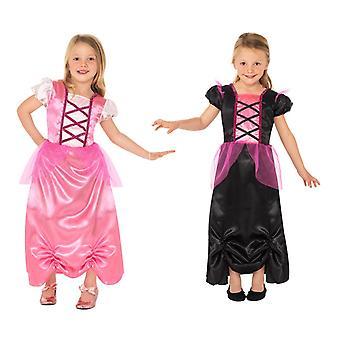 Prinzessin Hexe Kleid 2in1 Wechselkostüm 2-seitig Halloween Kostüm