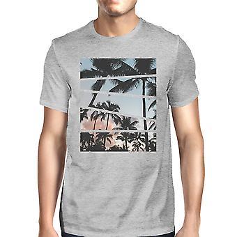 Palm Trees T-Shirt van de koker van de Mens korte van Californië zonsondergang fotografie