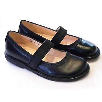 Angulus Girls Angulus Black School Shoes |3207-201