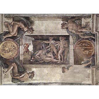 Michelangelo - Sistine Chapel Section 10 Poster Print Giclee