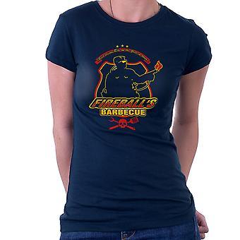 Ildkugler BBQ kører mand kvinder T-Shirt