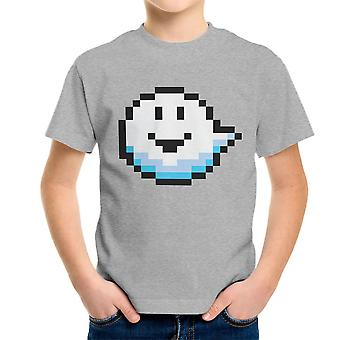 Fantomini Ghost Mario Pixel Grin Kid's T-Shirt