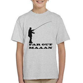 Ver weg Man visserij Kid's T-Shirt