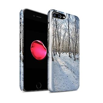 STUFF4 Glanz zurück Snap-On Handy Hardcase für Apple iPhone 7 Plus / verschneiten Wald Design / Winter Kollektion
