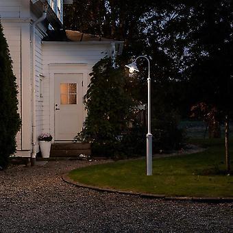 Konstsmide Vega White Swan Neck Garden Column Lantern Post