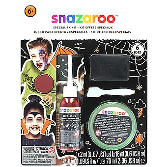 Snazaroo 6 Piece Special FX Halloween Kit - Wax, Gel Blood, Face Paint & Tools