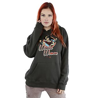 DC Comics Women's DC Bombshells Wonder Woman Badge Hoodie
