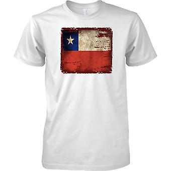 Bandiera del Cile Grunge Grunge effetto - Mens T-Shirt