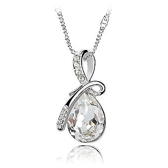 Boolavard® TM Fashion Eternal Love Angel Teardrop Austrian Crystal Pendant Necklace + Gift Box