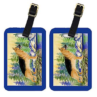 Carolines Treasures  SS8129BT Pair of 2 German Shepherd Luggage Tags