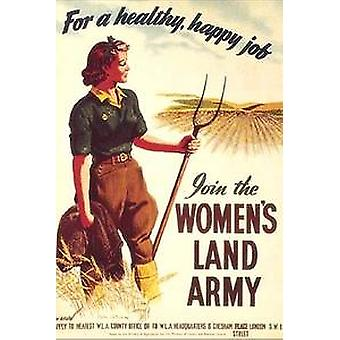 Womens Land Army steel wall sign 210mm x 150mm (hb)