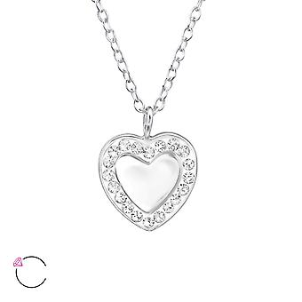 Heart Mirror crystal from Swarovski® - 925 Sterling Silver Necklaces