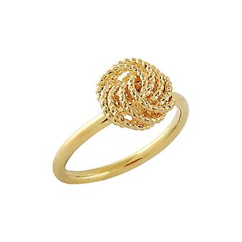 9ct 375 Gold Womens Ladies Swirl Eternal Love Knot Fine Solid Ring