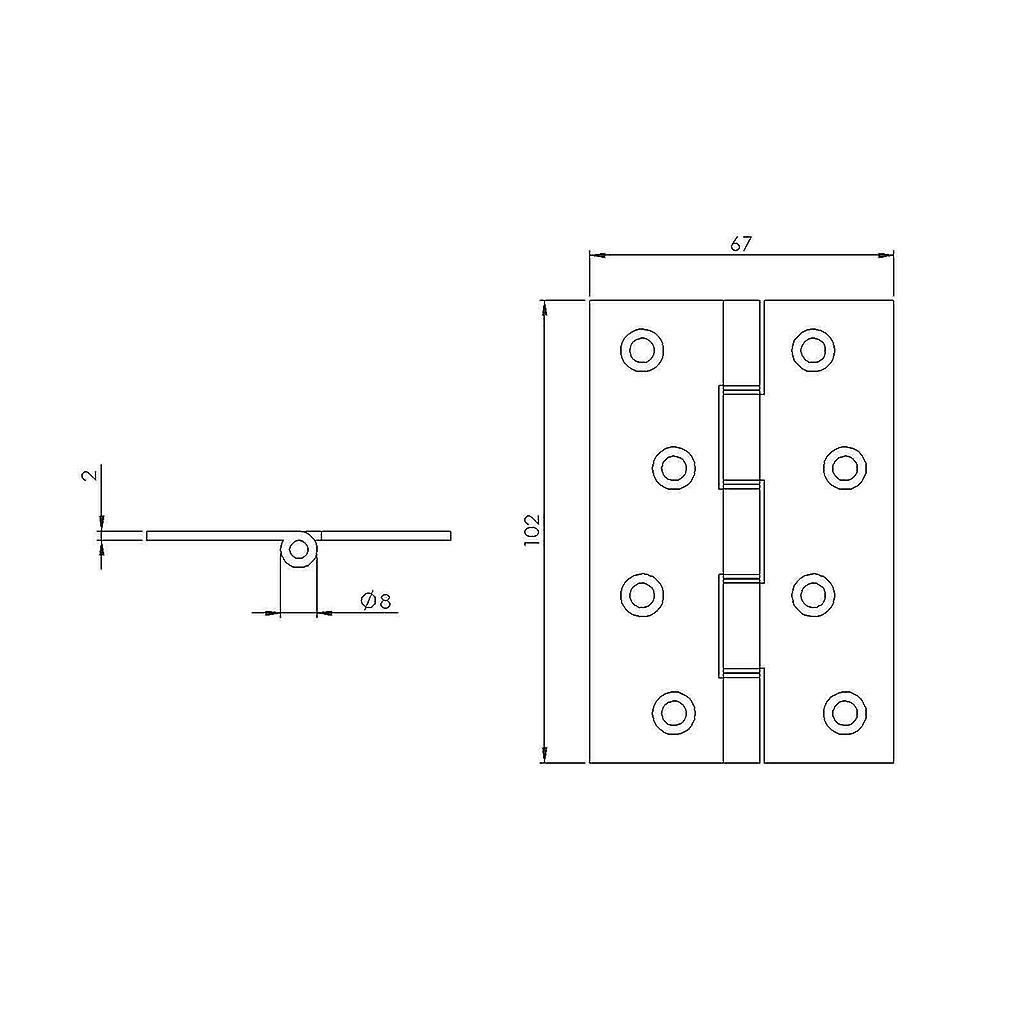 Premium Quality M4TEC ZC9 Self-Coloured DSW Brass Interior Butt Door Hinge - Sturdy, Durable & Easy To Install – With Double Steel Washers & Steel Pin – Ideal For General Joinery & Furniture. 2pcs