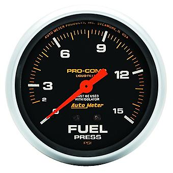 Auto Meter 5413 Pro-Comp Liquid-Filled Mechanical Fuel Pressure Gauge