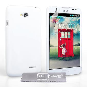 Yousave tilbehør LG L70 hårdt Hybrid sag - hvid