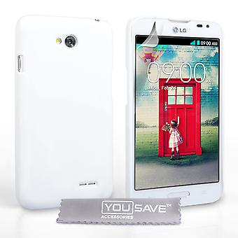 Yousave Accessori LG L70 Hybrid Hard Case - bianco