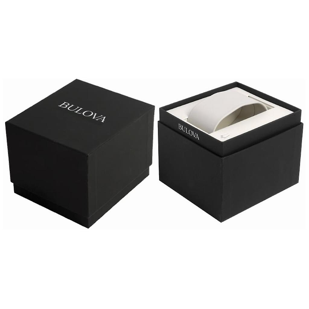 Orologio da polso donna Bulova 96R135 diamante caso quadrante bianco