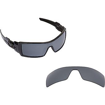 Best SEEK Polarized Replacement Lenses for Oakley OIL RIG Black Silver Mirror