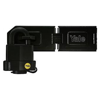 Yale Yale Hasp Steel Black Finish With Weatherproof 51mm Padlock