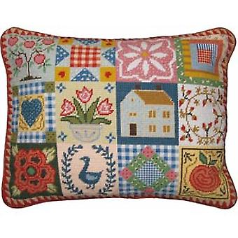 Shaker Patchwork Needlepoint Canvas