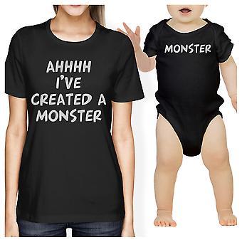 Créé un monstre maman et le bébé correspondant cadeau T-Shirts Body de bébé