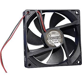 Axial fan 12 Vdc 100.24 m³/h (L x W x H) 92 x 92 x 25 mm QuickCo