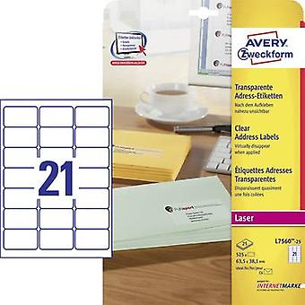Avery-Zweckform L7560-25 Labels (A4) 63.5 x 38.1 mm Polyester fi