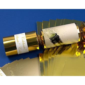 8 Gold Foil Celebrate! Make & Fill Your Own New Year Party Crackers Craft Kit