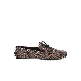Printe-S12wr0035 - Just Cavalli leather moccasins