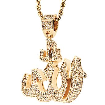 Iced out bling religion trailer - 3D ALLAH SYMBOL guld
