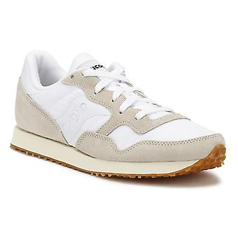 Saucony Womens White / Gum DXN Vintage Trainers