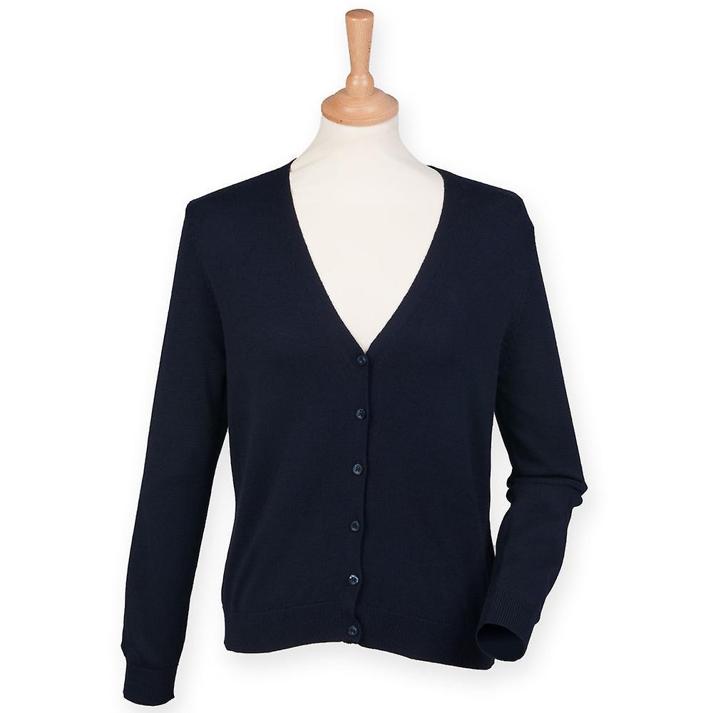 Henbury Ladies V-Neck Button Up Cardigan