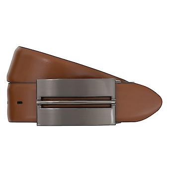 Cinture da cintura cinture uomo LLOYD maschile in pelle fibbia della cintura accoppiamento Cognac 7161