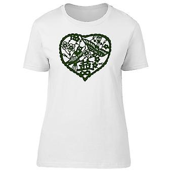 Floral Wedding Chinese Letter Tee Women's -Image by Shutterstock