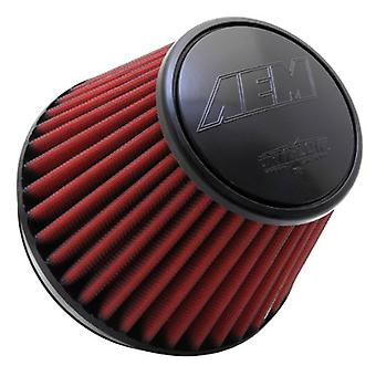 AEM 21-209EDK Universal DryFlow Clamp-On Air Filter: Round Tapered; 6 in (152 mm) Flange ID; 5 in (127 mm) Height; 7.5 i