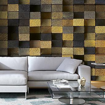 Wallpaper - Wooden cubes
