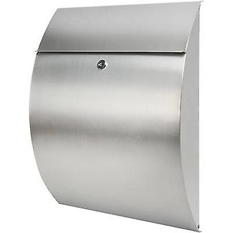 Letterbox Burg Wächter 38670 RIVIERA 3835 NI Silver Stainless steel Key