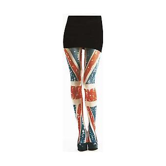 Union Jack Wear Ladies Union Jack Tattoo Design Semi Opaque Tights