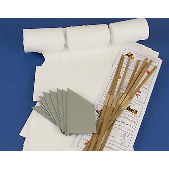 12 Smooth White Make & Fill Your Own Cracker Kits | DIY Christmas Cracker Crafts