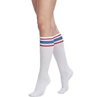 Urban Classics Ladies - Lange College Socken 2er-Pack retro
