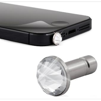 White Diamonds Sparkling Screen Protector & Crystal Pin for Apple iPhone 5